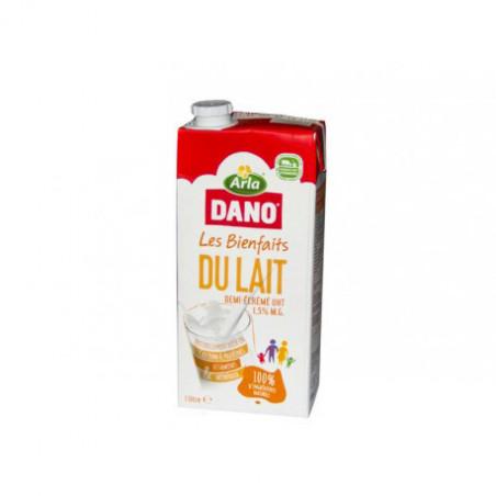 Lait Demi-écrémé UHT 1.5% MG DANO 1L