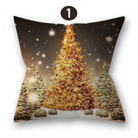 Housse de coussin pour Noël 45cmx45cm 17.7 pouces