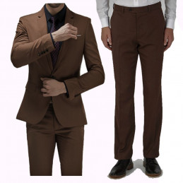 Ensemble VESTE HOMME MARRON