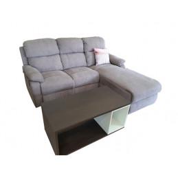 Canapé d'angle marron...
