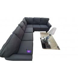 Canapé d'angle large gris...