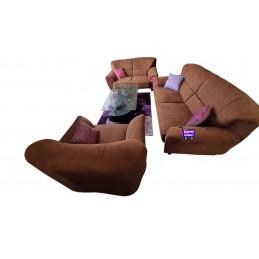 Sofa marron foncé 3024LBMF