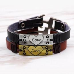 Bracelets Couples En Cuir