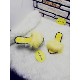 Babouche Coco Chanel jaune