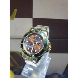 Montre Rolex bordure verte