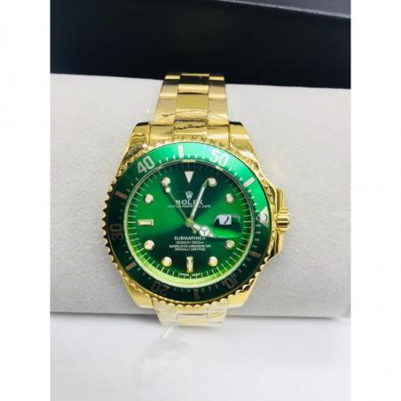 Montre Rolex intérieur vert