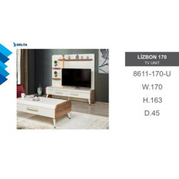 Lizbon TV Wall Unit 8611-170-U