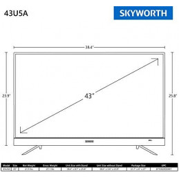 Skyworth  43 pouces 4K UHD...