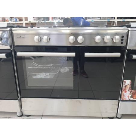 Cuisinière automatique Superflamme 60x90 inox avec porte gaz 4 foyers 12 mois de garantie