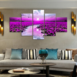 "Tableau mural ""Fleur violet..."