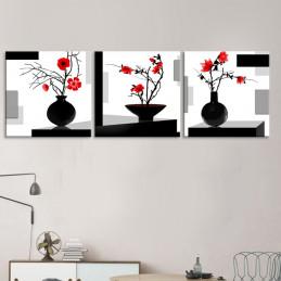"""Tableau mural 3 en 1 """"Vase""""..."""