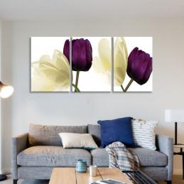 """Tableau mural 3 en 1 """"Rose..."""