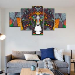"""Tableau mural 5 en 1 """"Singe..."""