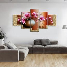 """Tableau mural 5 en 1 """"Vase..."""