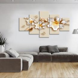 """Tableau mural 5 en 1 """"Rose..."""