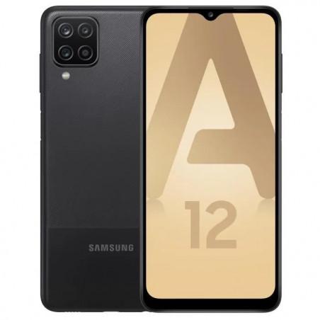 Samsung Galaxy A12 (Noir) - 64 Go - 4 Go 6,5 pouces, Android 10 12 mois