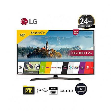 """TV LG Smart TV LED Ultra Slim 49UJ651V - UHD 4K - 49"""" - Noir - 24 Mois Garantie"""