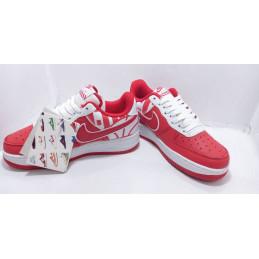 Tennis Air force Nike Rouge
