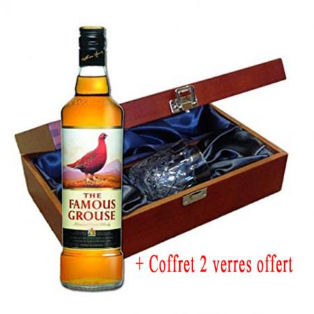 Whisky The Famous Grouse Finest - 40% - 750ml - Coffret 2 verres offert