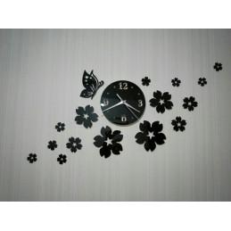 Horloge Murale fleurs